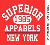 athletic varsity typography ... | Shutterstock .eps vector #645814087
