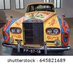 malaga  spain. circa february... | Shutterstock . vector #645821689