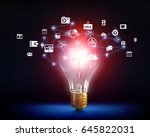 wireless connection concept .... | Shutterstock . vector #645822031