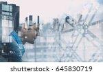 guy surfing the net | Shutterstock . vector #645830719