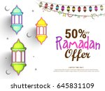 illustration of ramadan sale...   Shutterstock .eps vector #645831109