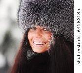 winter women close up portrait | Shutterstock . vector #64583185
