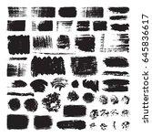 vector illustration of brush... | Shutterstock .eps vector #645836617