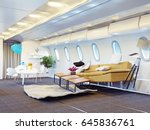 airplane cabin as a living room.... | Shutterstock . vector #645836761