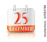 christmas calendar icon... | Shutterstock .eps vector #64583788
