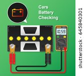 cars battery checking with... | Shutterstock .eps vector #645840301