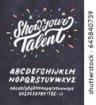 show your talent. vector... | Shutterstock .eps vector #645840739