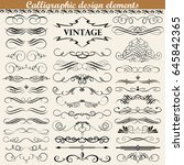 illustration set of vintage... | Shutterstock .eps vector #645842365