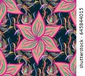multicolor ornament of small... | Shutterstock .eps vector #645844015