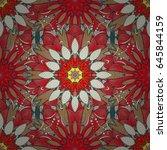 multicolor ornament of small... | Shutterstock .eps vector #645844159