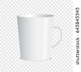 white mug on transparent... | Shutterstock .eps vector #645845545