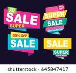 super sale vector banner.  50... | Shutterstock .eps vector #645847417