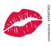 vector kiss. sexy lips sample... | Shutterstock .eps vector #645847801