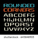 sanserif font with rounded... | Shutterstock .eps vector #645848905