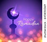 ramadan greeting card for... | Shutterstock .eps vector #645850369