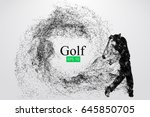 silhouette of a golf player.... | Shutterstock .eps vector #645850705