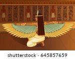 vector design of egyptian... | Shutterstock .eps vector #645857659