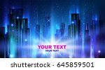 night city background | Shutterstock .eps vector #645859501