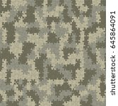 us army acu digital camouflage... | Shutterstock .eps vector #645864091