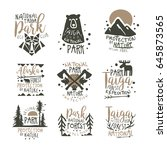 national park eco club labels... | Shutterstock .eps vector #645873565