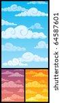 cartoon cloudscape. below are 2 ... | Shutterstock .eps vector #64587601