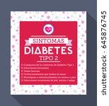 sintomas diabetes tipo 2 ... | Shutterstock .eps vector #645876745