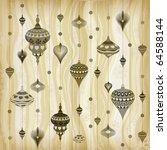 pastel toned christmas pattern | Shutterstock .eps vector #64588144