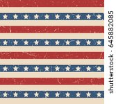 american patriotic stars and... | Shutterstock .eps vector #645882085