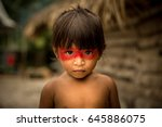 native brazilian child from... | Shutterstock . vector #645886075