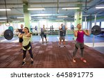 fitness  sport  training ... | Shutterstock . vector #645891775