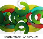 circle geometric abstract... | Shutterstock .eps vector #645892321