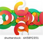 circle geometric abstract... | Shutterstock .eps vector #645892351