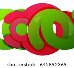 circle geometric abstract... | Shutterstock .eps vector #645892369