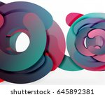 circle geometric abstract... | Shutterstock .eps vector #645892381