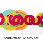 circle geometric abstract... | Shutterstock .eps vector #645892429