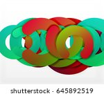 circle geometric abstract... | Shutterstock .eps vector #645892519