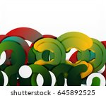 circle geometric abstract... | Shutterstock .eps vector #645892525