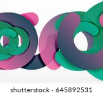 circle geometric abstract... | Shutterstock .eps vector #645892531