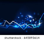 neon lightning vector... | Shutterstock .eps vector #645893614