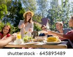 leisure  holidays  eating ... | Shutterstock . vector #645895489