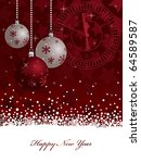 red star new years background... | Shutterstock .eps vector #64589587