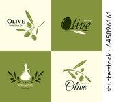 olive label  logo design. olive ... | Shutterstock .eps vector #645896161