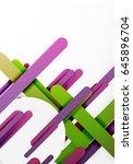 cut 3d paper color straight...   Shutterstock . vector #645896704