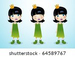 little princess | Shutterstock .eps vector #64589767