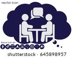 vector illustration people at a ... | Shutterstock .eps vector #645898957