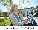 education  technology and... | Shutterstock . vector #645900361