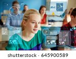 education  learning and people... | Shutterstock . vector #645900589