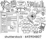 business doodles sketch set ...   Shutterstock .eps vector #645904807