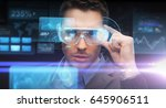 augmented reality  technology ... | Shutterstock . vector #645906511