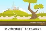 a beautiful rural landscape... | Shutterstock .eps vector #645910897